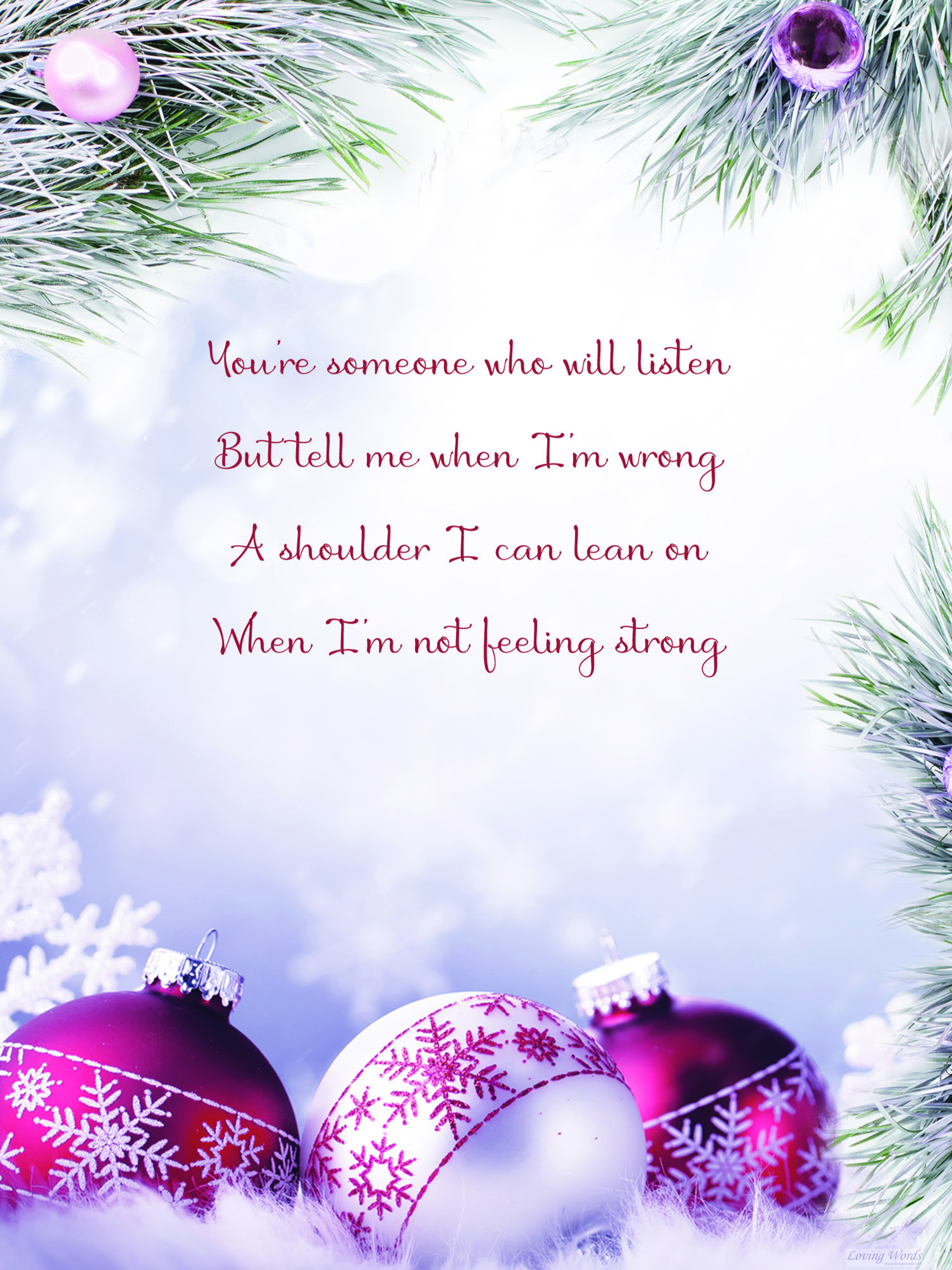 with love sister at christmas  greeting cardsloving words