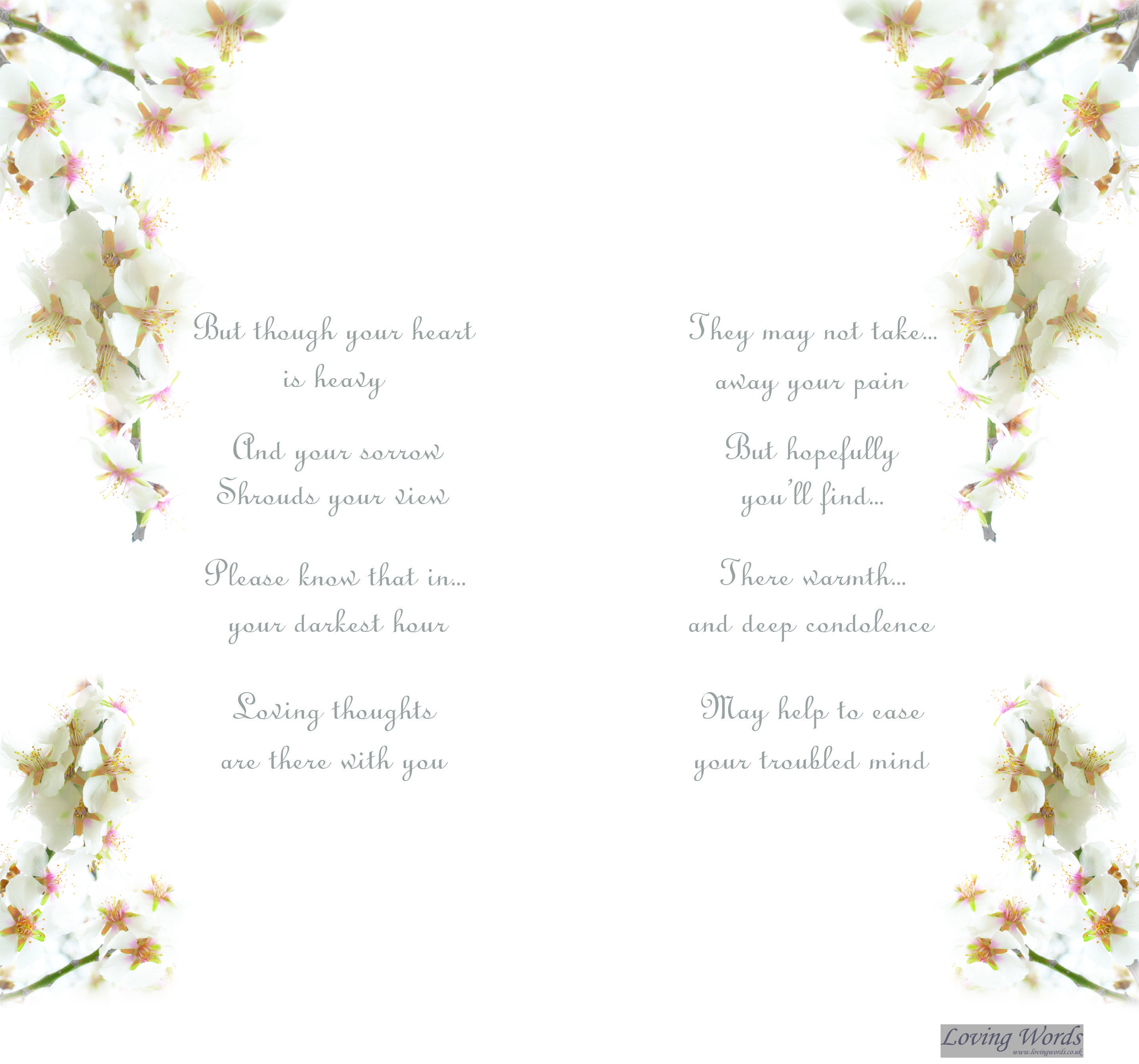 With You In Thought Greeting Cards By Loving Words