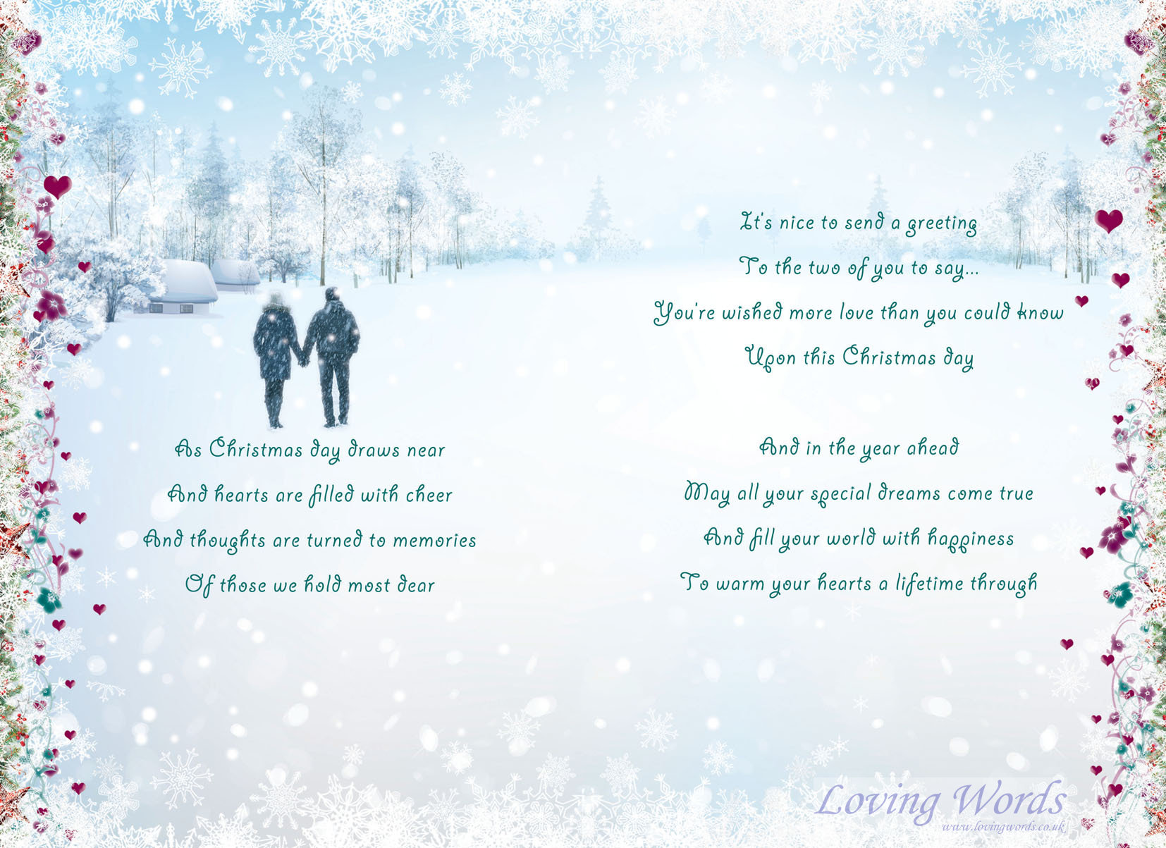 Son Daughter In Law At Christmas Greeting Cards By Loving Words