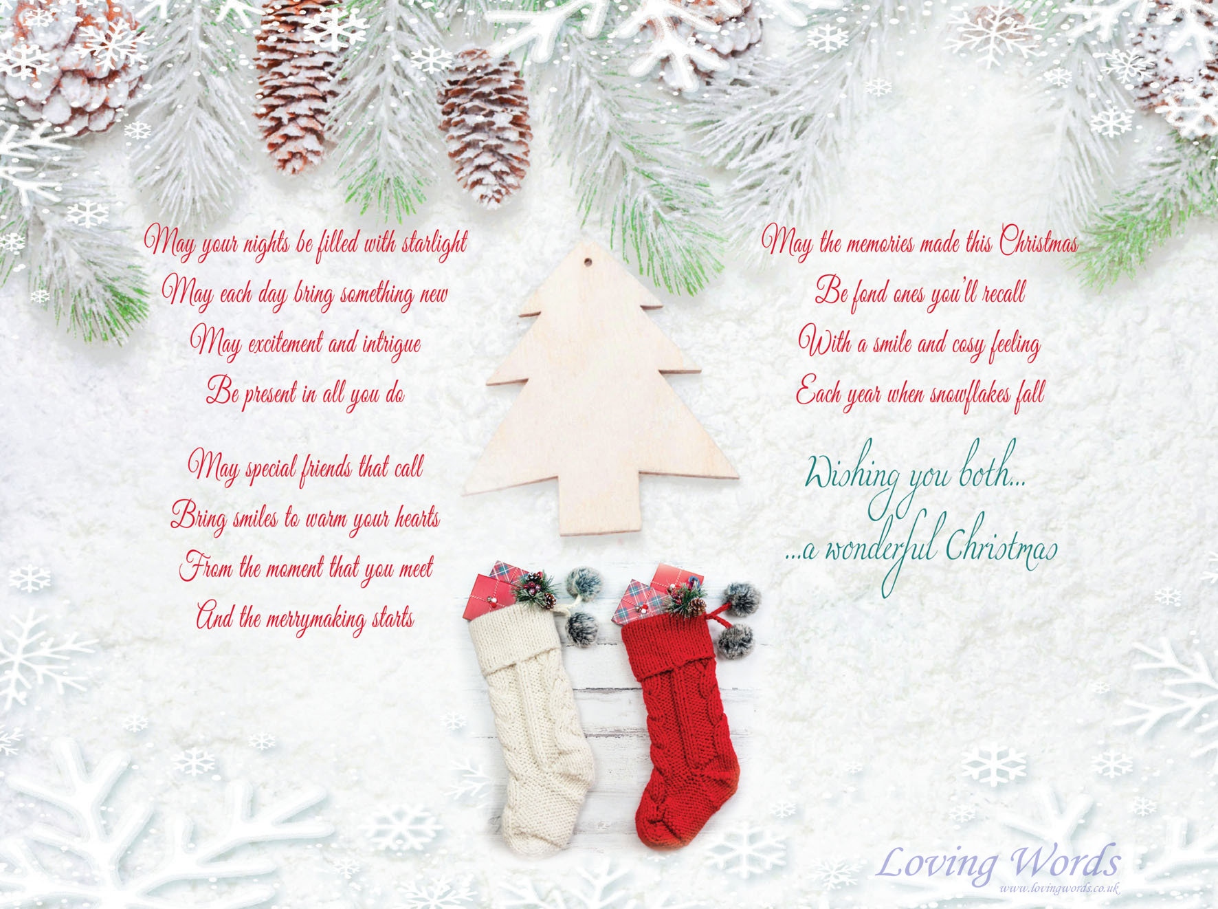 Granddaughter and partner at christmas greeting cards by loving words personalised greeting cards personalised greeting cards kristyandbryce Gallery