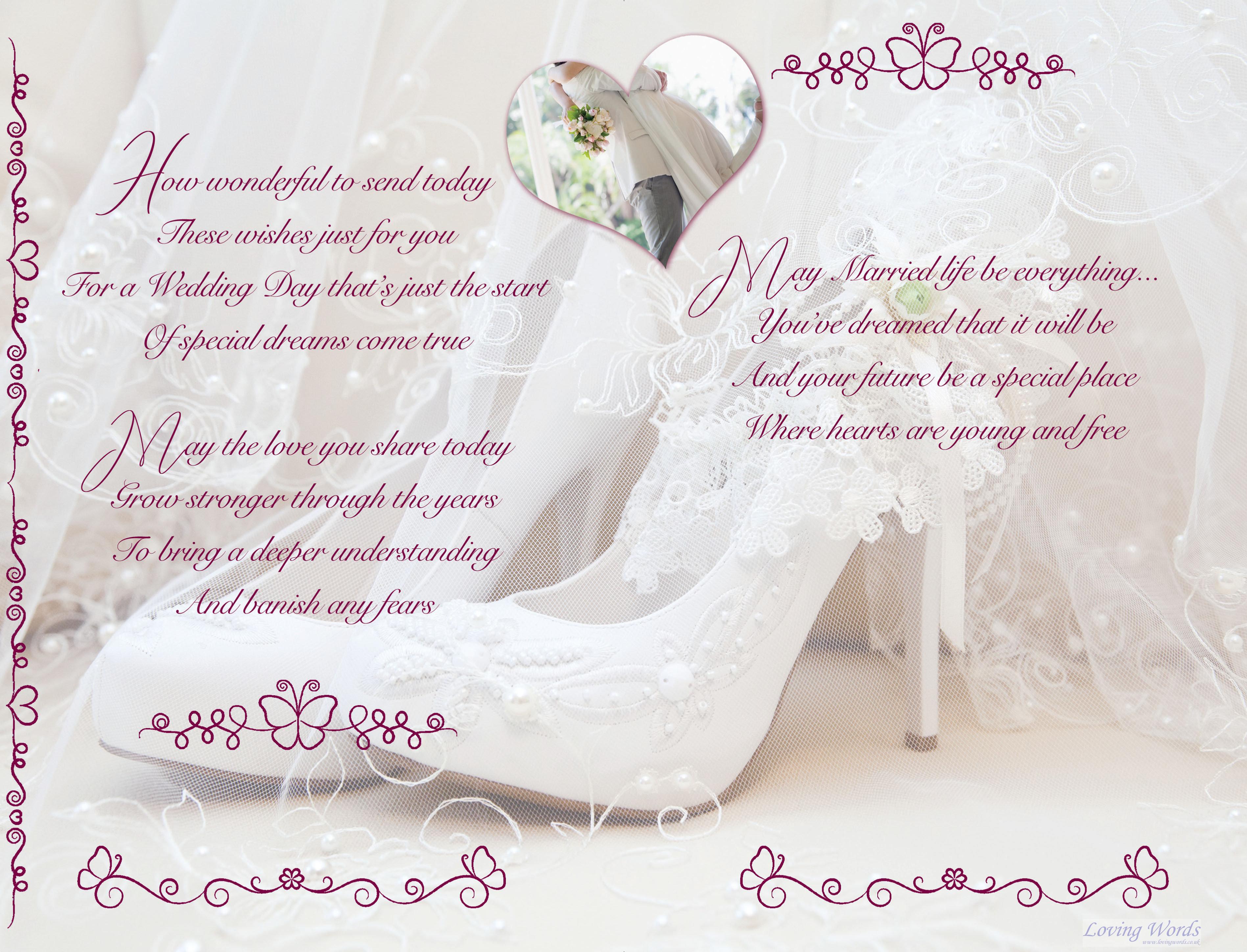 lovely couple wedding  greeting cardsloving words