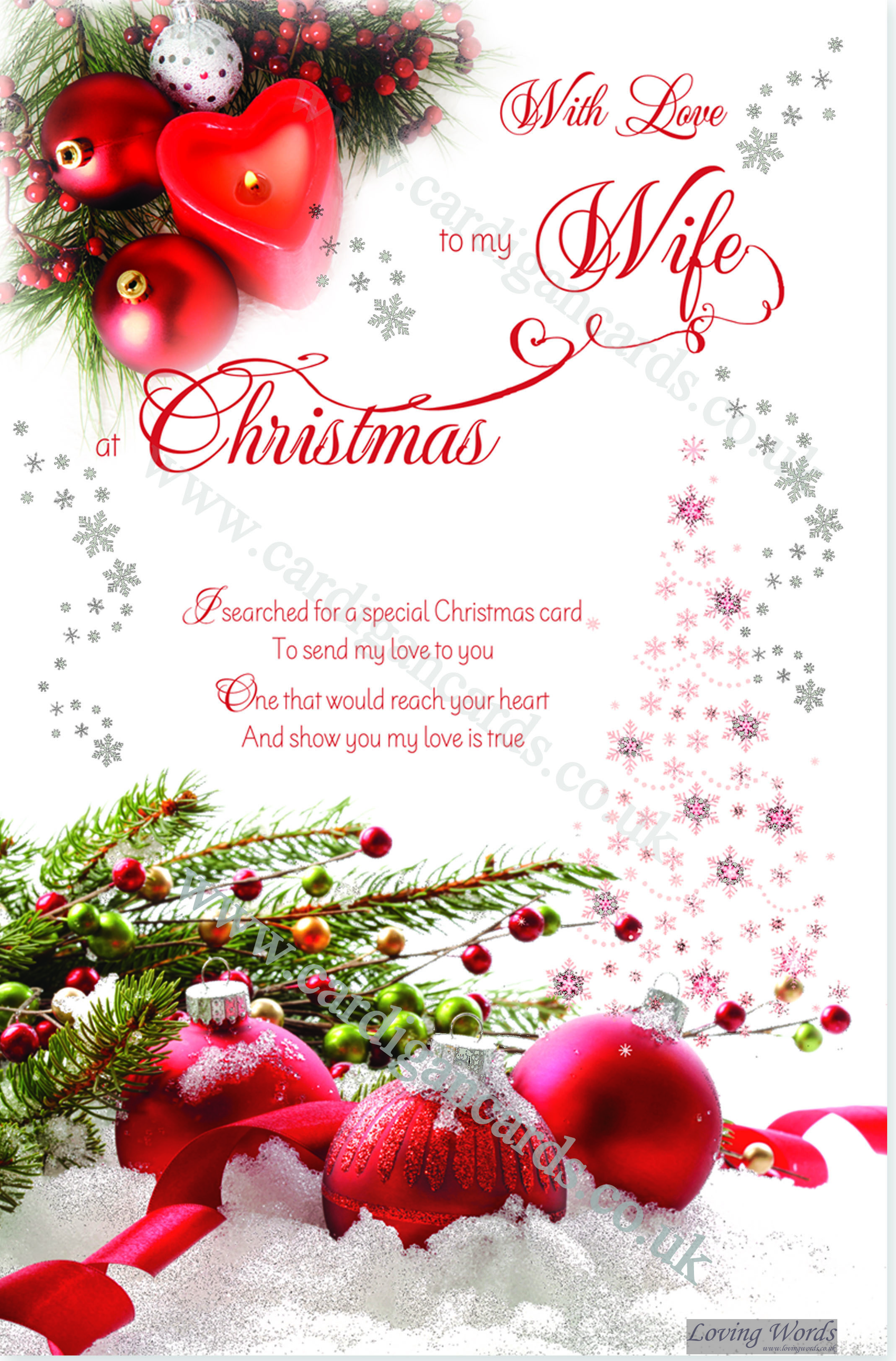 To my wife at christmas greeting cards by loving words personalised greeting cards kristyandbryce Choice Image