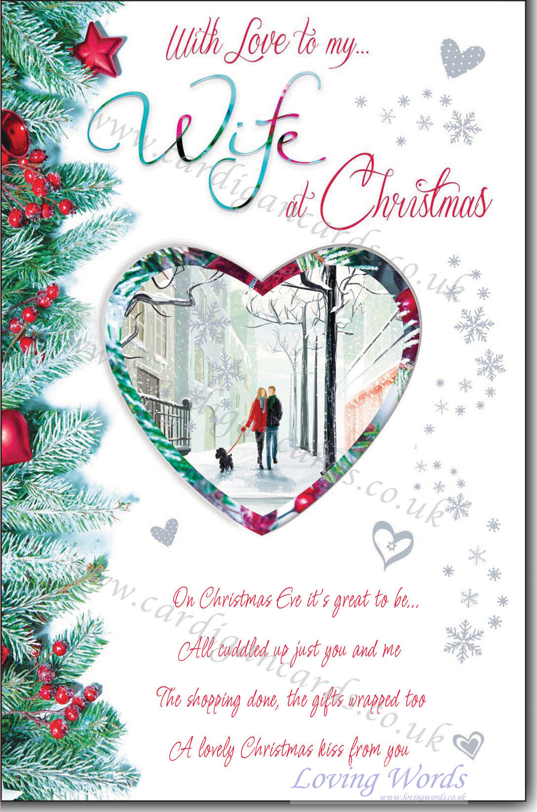 With Love To My Wife At Christmas Greeting Cards By Loving Words