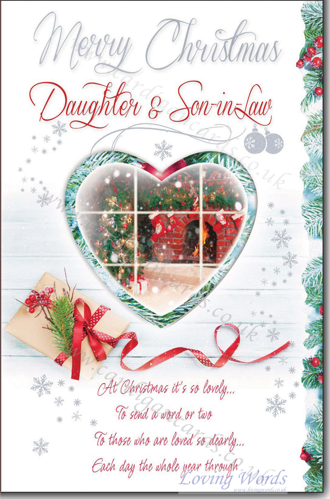 personalised greeting cards - Merry Christmas Daughter