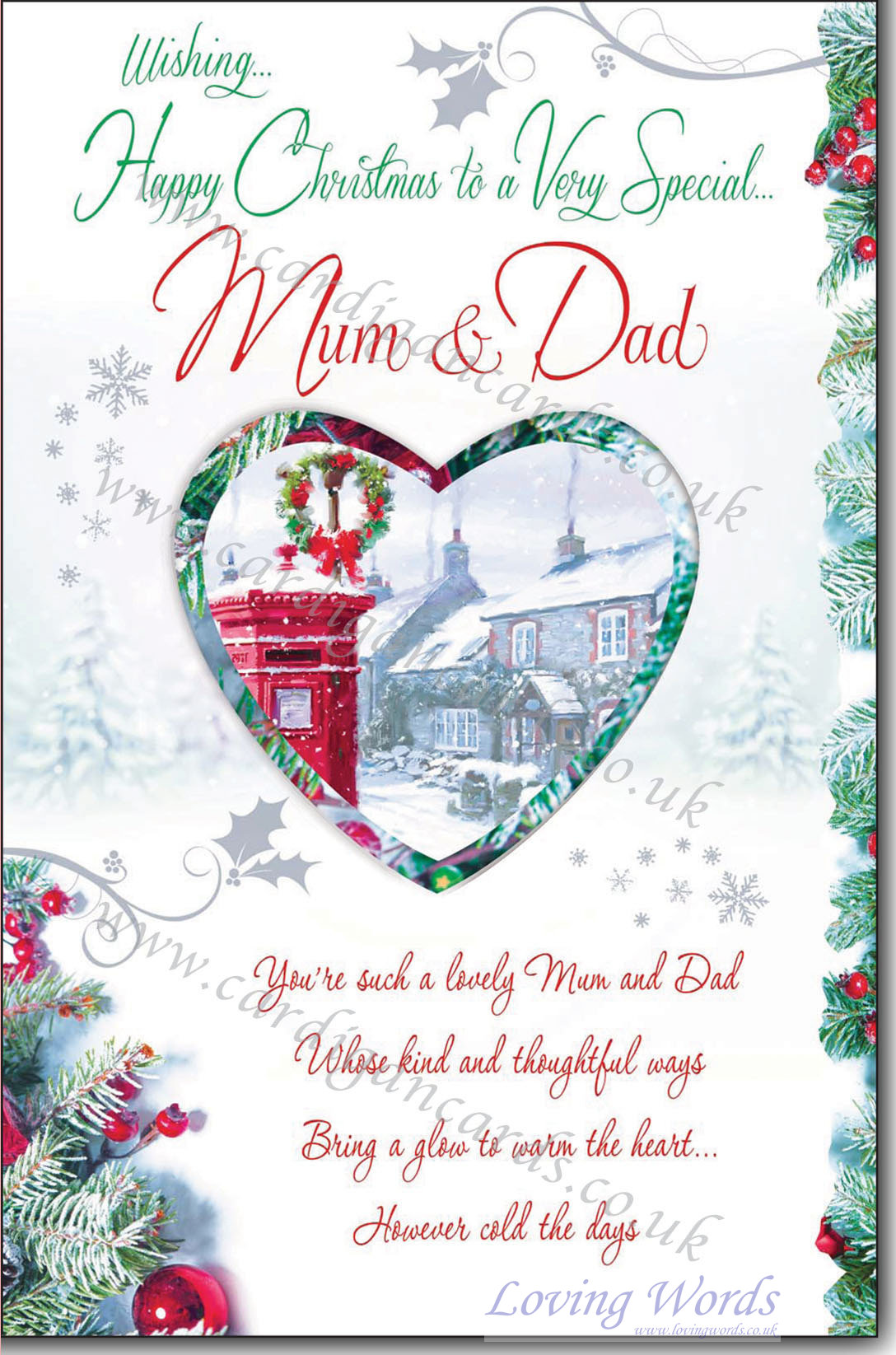 Happy Christmas Mum & Dad | Greeting Cards by Loving Words