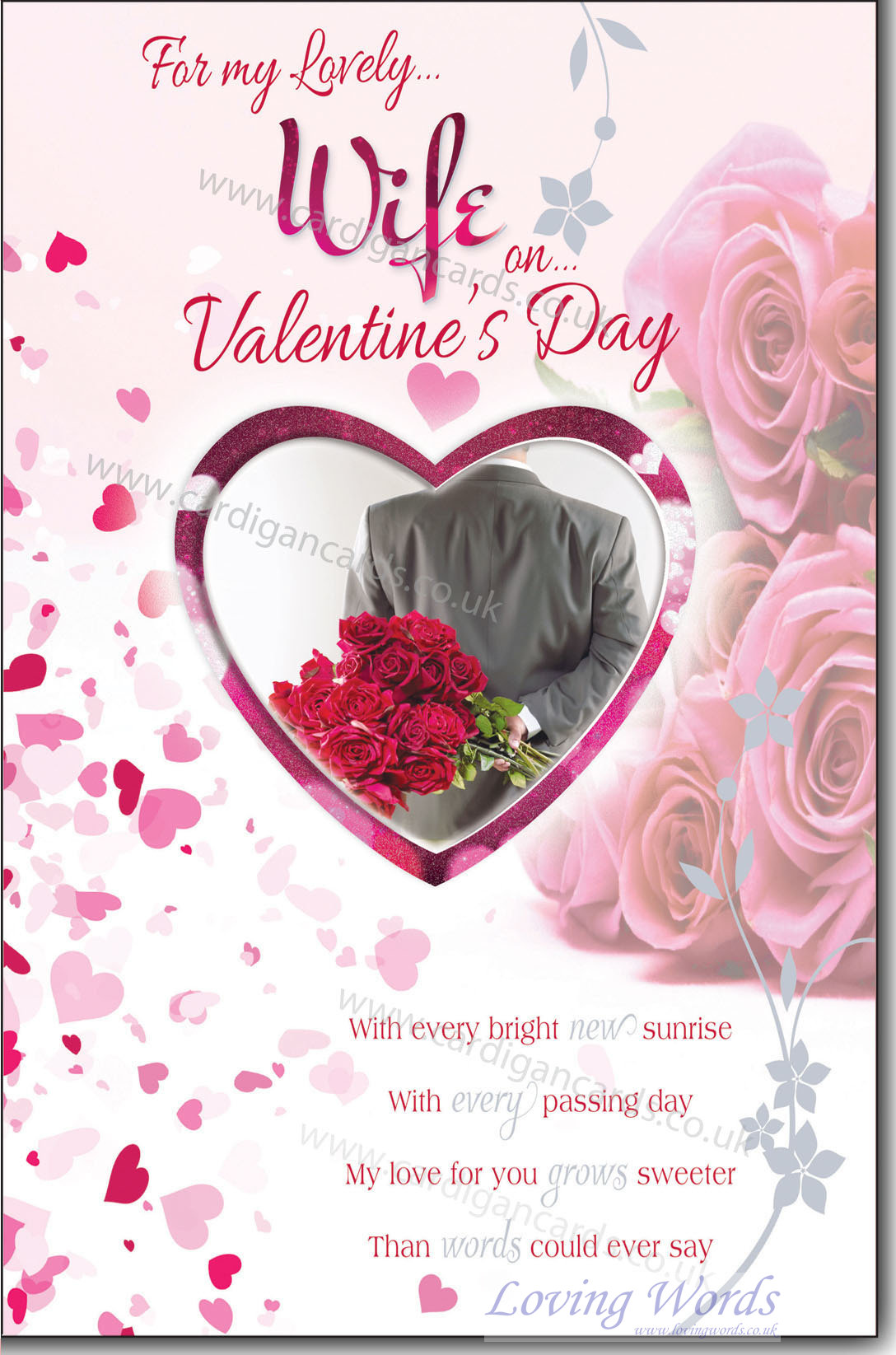 Lovely wife on valentines day greeting cards by loving words personalised greeting cards m4hsunfo