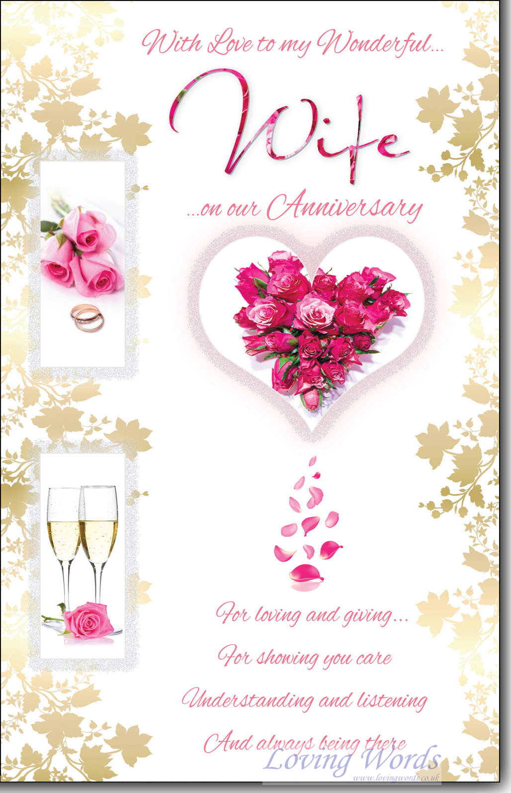 Wife anniversary greeting cards by loving words personalised greeting cards m4hsunfo