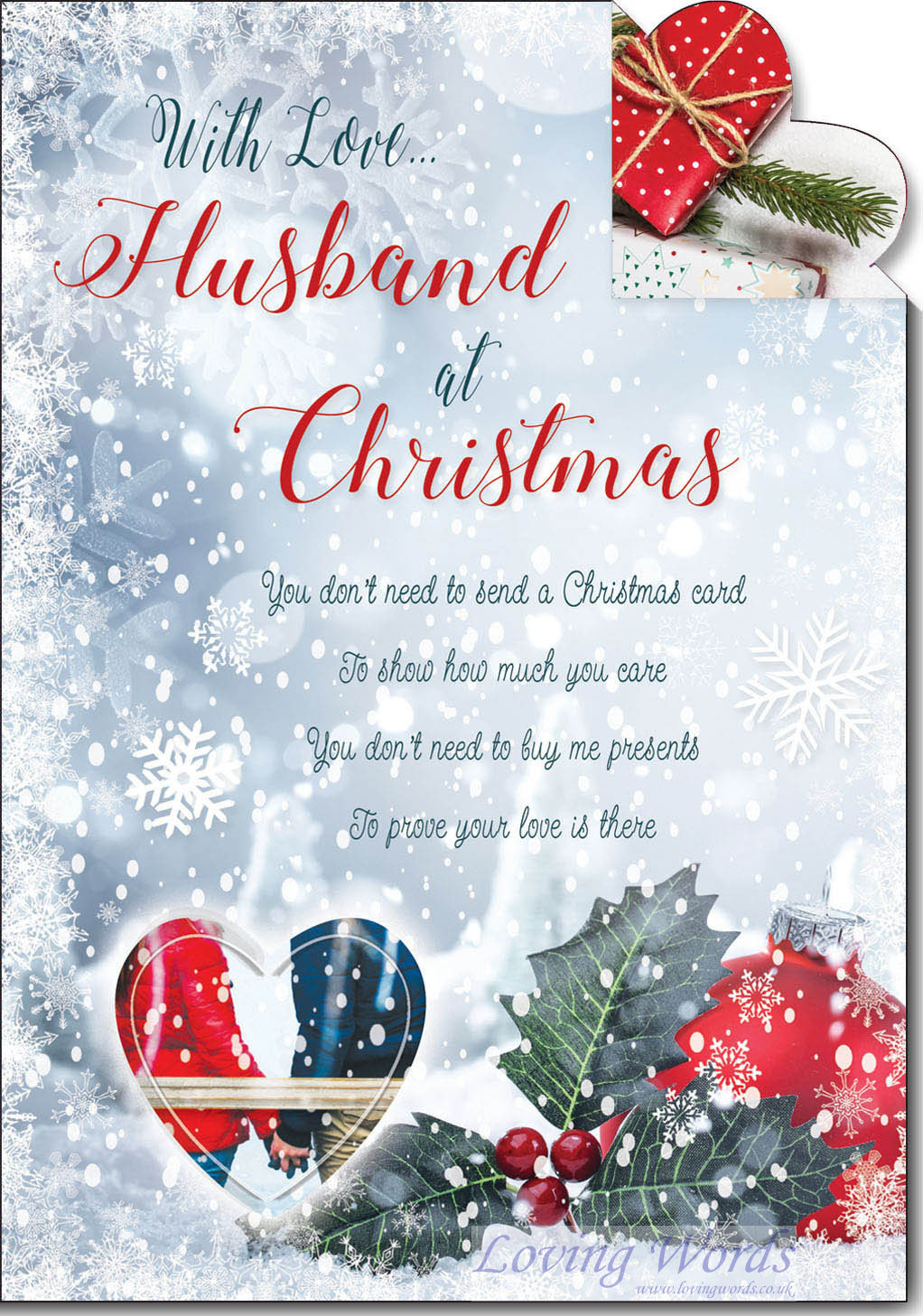 Husband Christmas Cards Uk.Love Husband At Christmas Greeting Cards By Loving Words