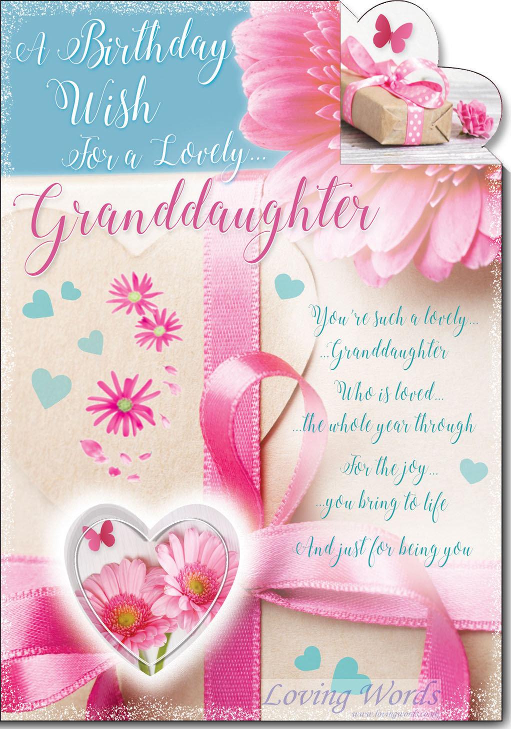 birthday wish granddaughter  greeting cardsloving words