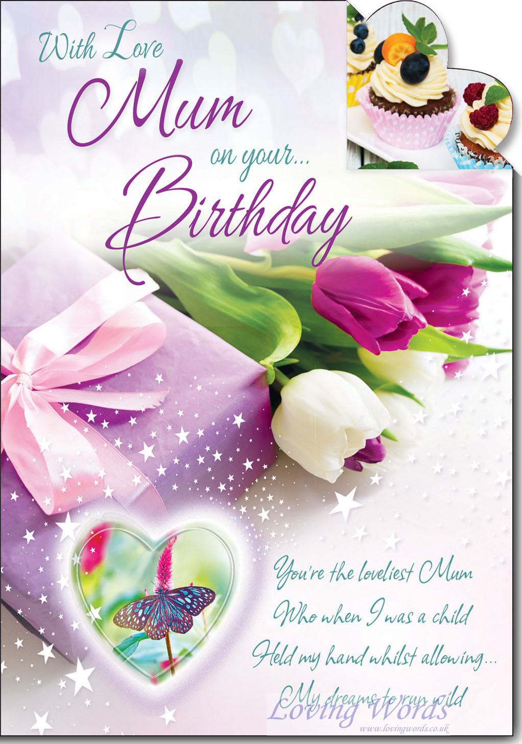Mum Birthday Greeting Cards By Loving Words