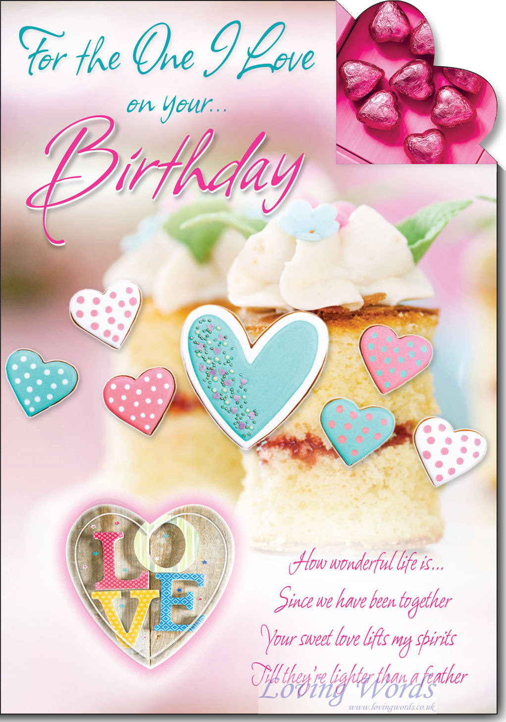 One I Love Birthday  Greeting Cards by Loving Words