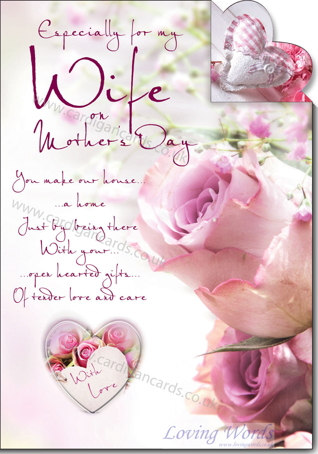 My wife on mothers day greeting cards by loving words personalised greeting cards m4hsunfo