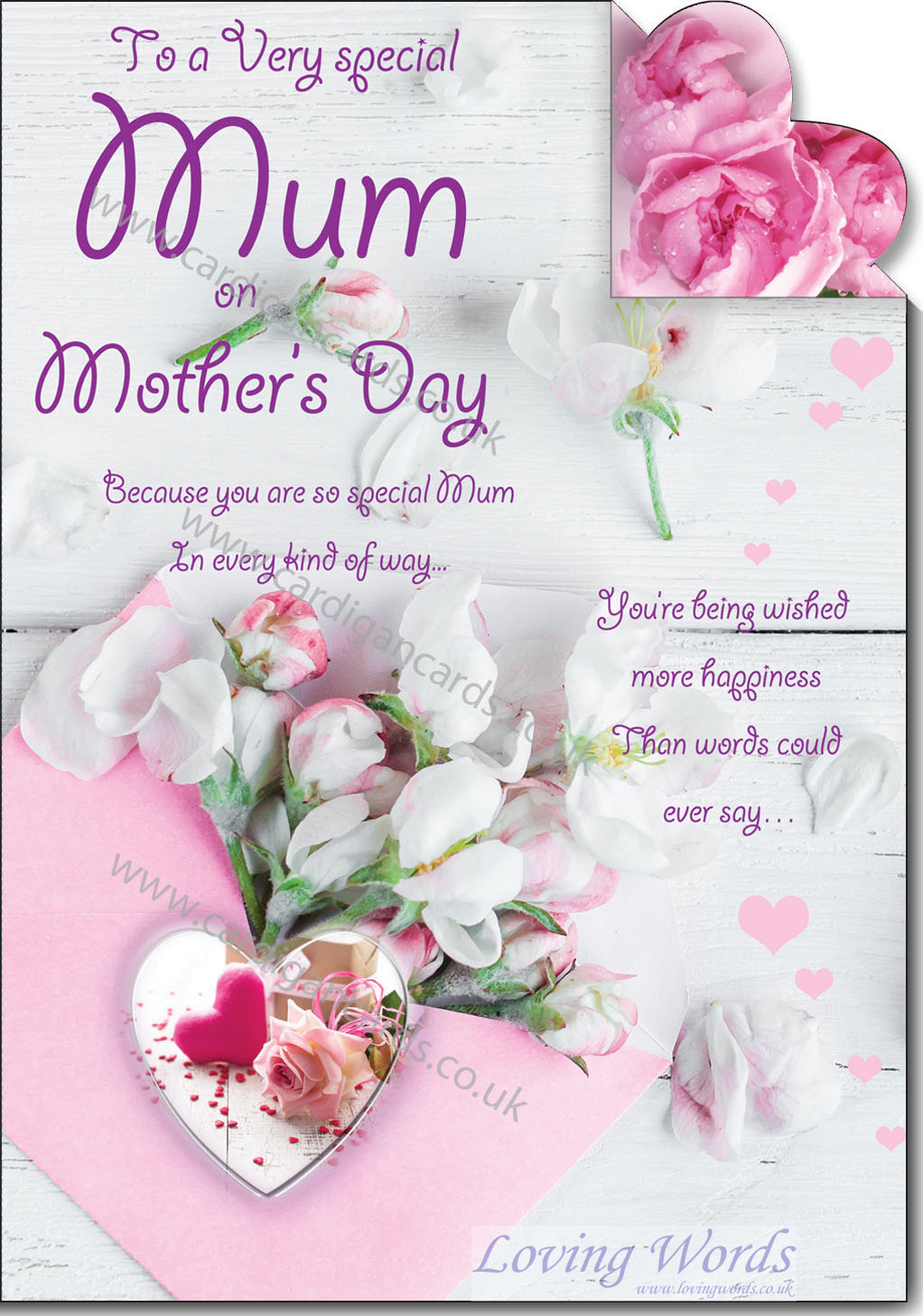 Special mum on mothers day greeting cards by loving words personalised greeting cards kristyandbryce Choice Image