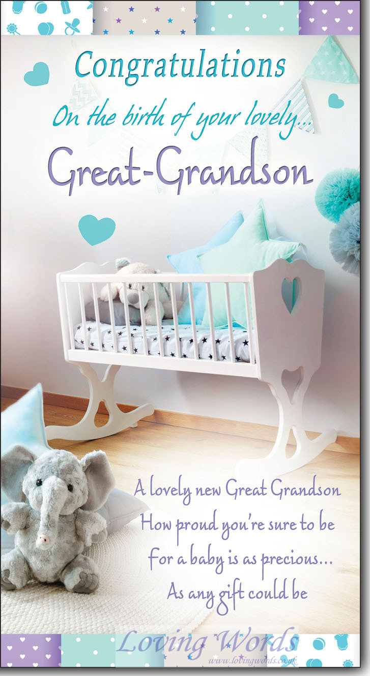 On The Birth Of Your Great Grandson Greeting Cards By Loving Words