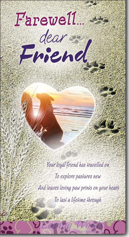 farewell dear friend  greeting cardsloving words