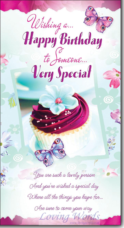 someone special birthday f  greeting cardsloving words