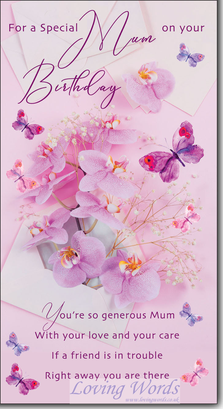 Mum On Your Birthday Greeting Cards By Loving Words