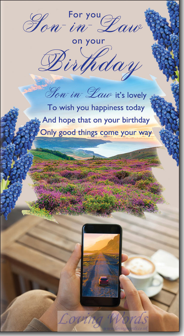 Happy Birthday Son In Law Greeting Cards By Loving Words
