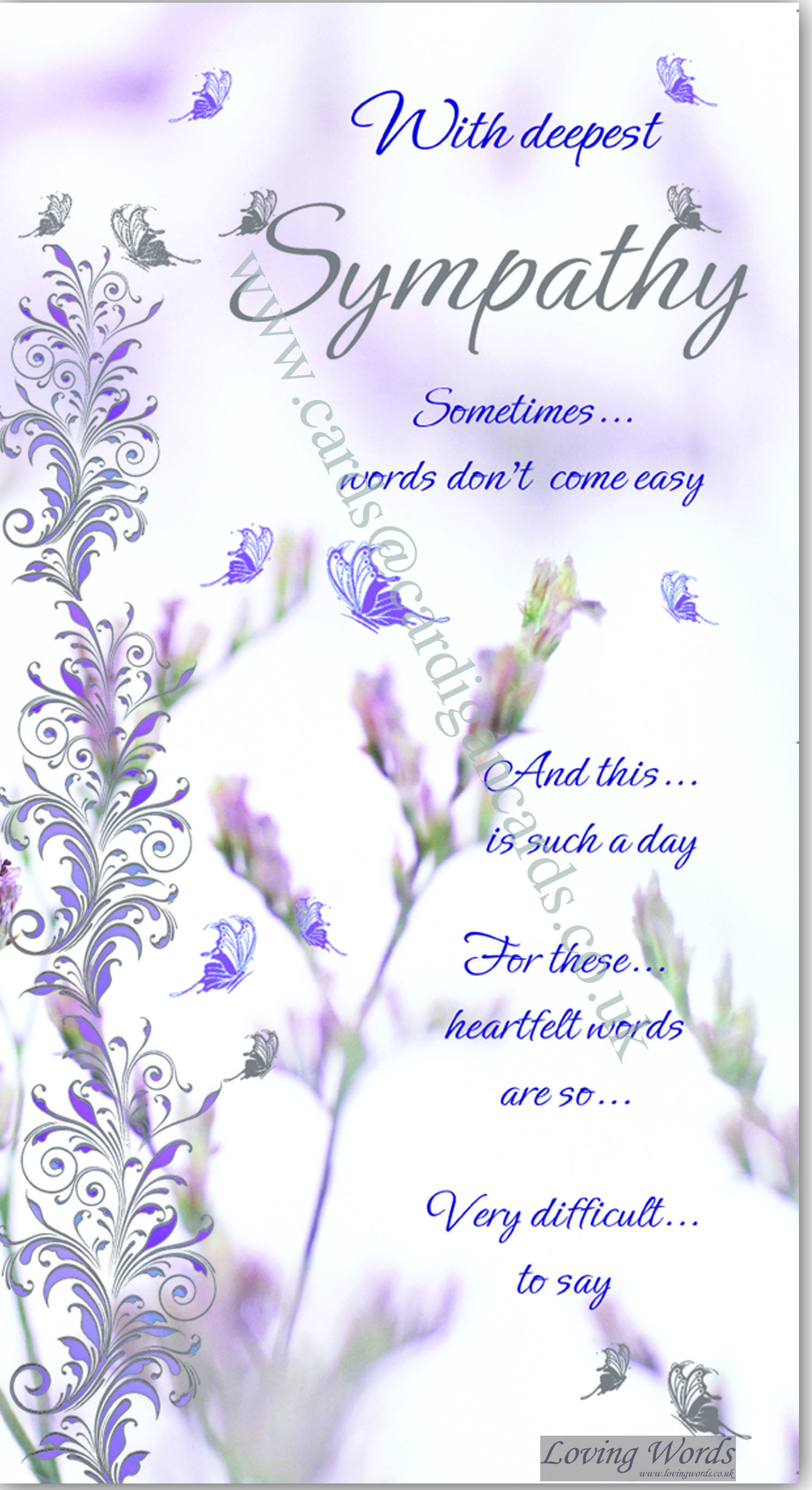 With deepest sympathy greeting cards by loving words personalised greeting cards kristyandbryce Images