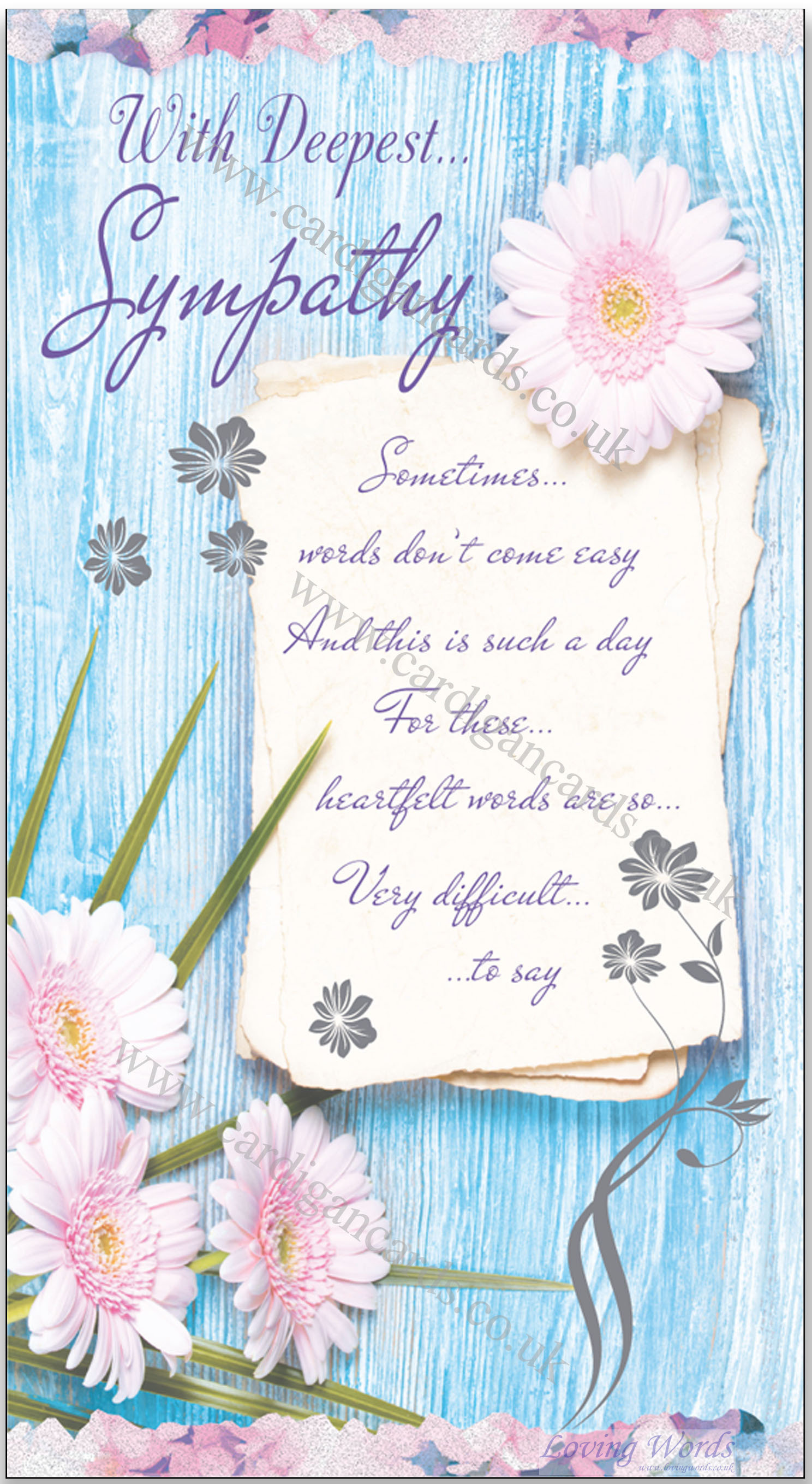 Deepest sympathy greeting cards by loving words personalised greeting cards kristyandbryce Images