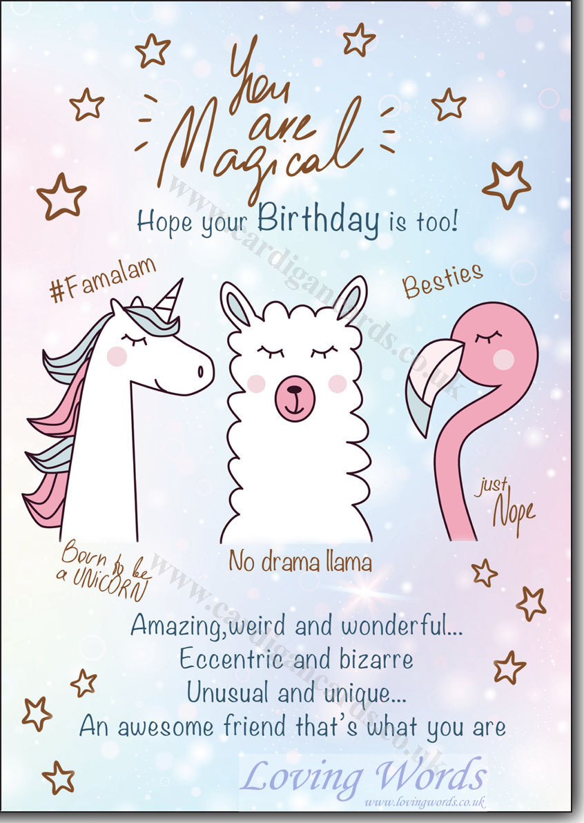 1 you are magical birthday greeting cards by loving words personalised greeting cards m4hsunfo