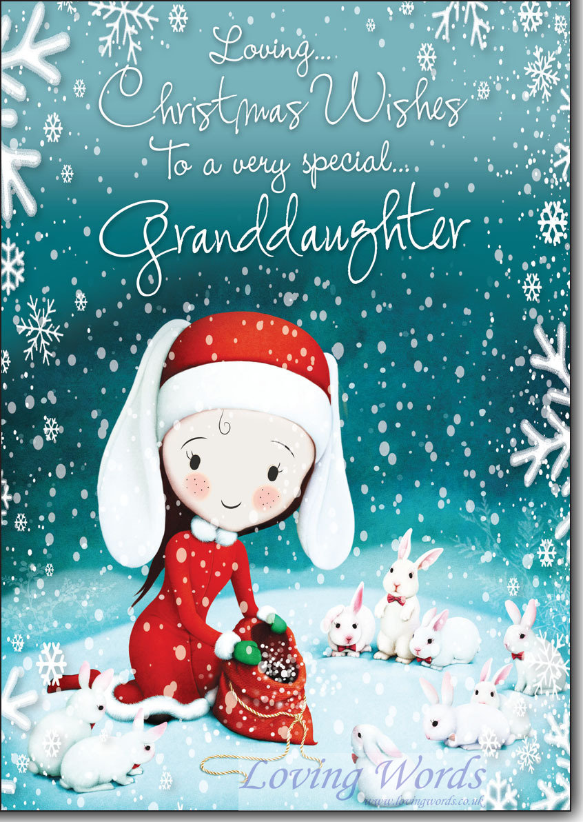 Christmas Wishes Special Granddaughter Greeting Cards By Loving Words