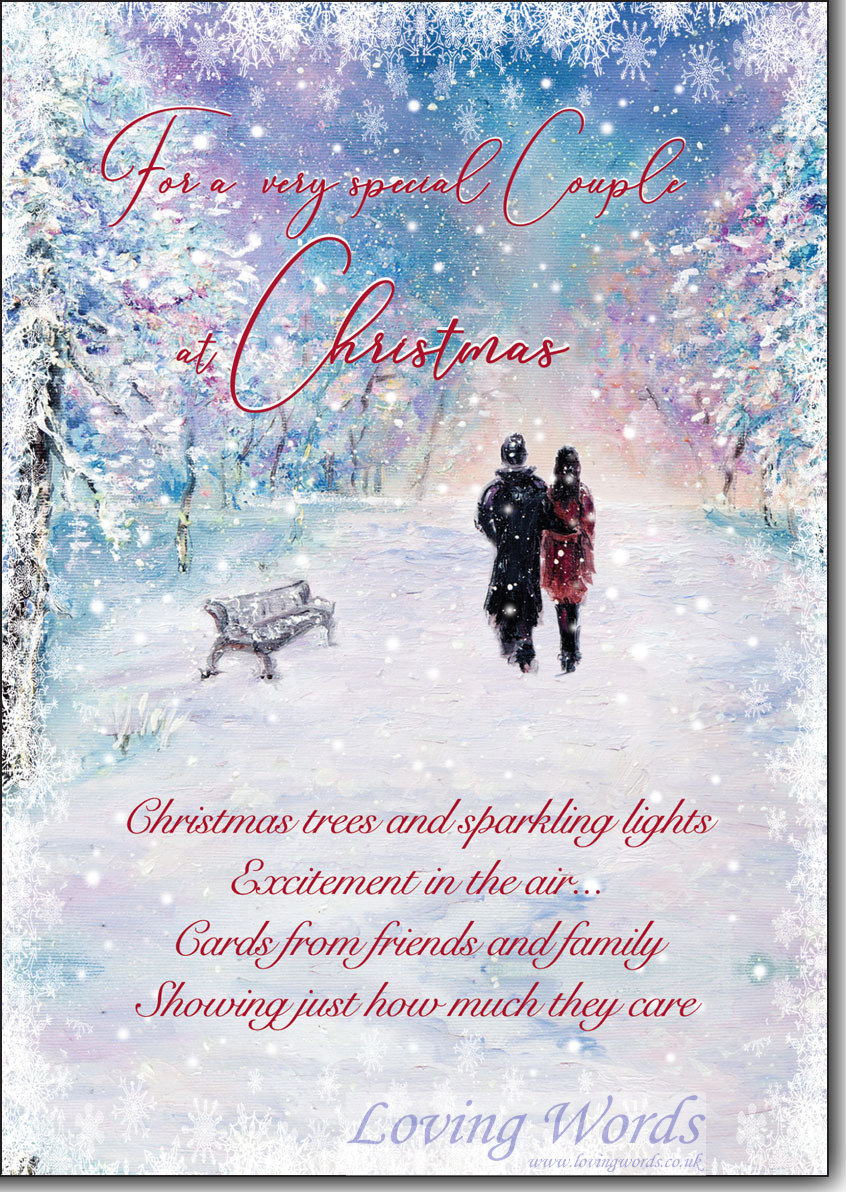 Special Couple At Christmas Greeting Cards By Loving Words