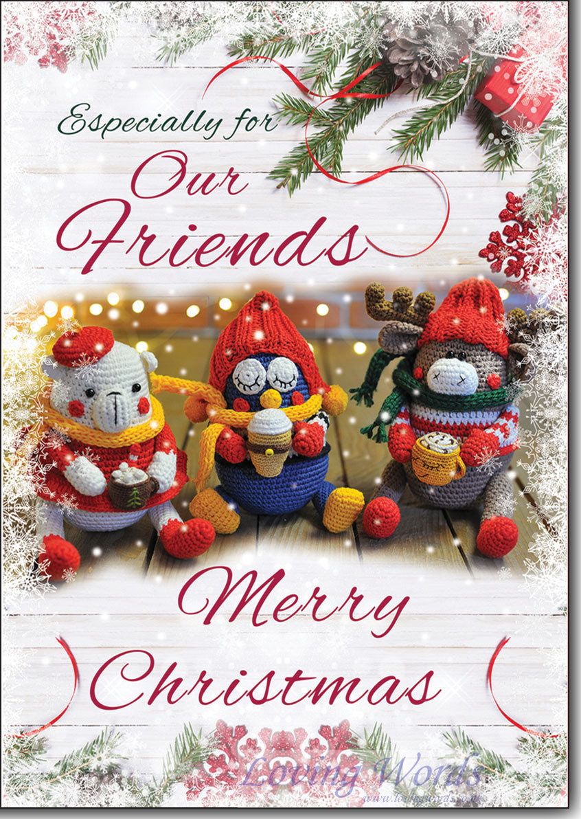 For special friends at christmas greeting cards by loving words personalised greeting cards kristyandbryce Gallery