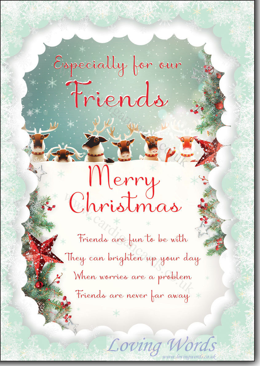 Our Friends At Christmas Greeting Cards By Loving Words