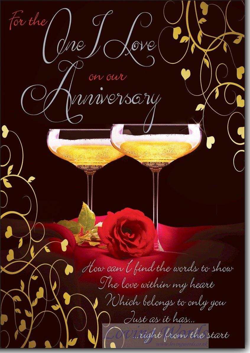 Our anniversary greeting cards by loving words