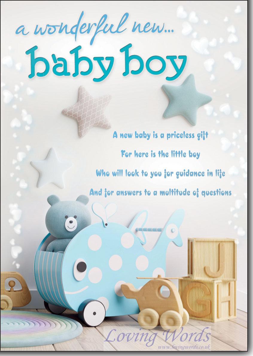 Baby Boy Birth | Greeting Cards by Loving Words