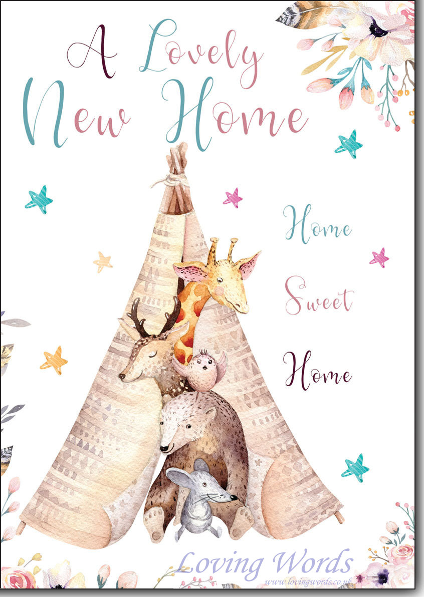 Lovely new home greeting cards by loving words personalised greeting cards kristyandbryce Image collections