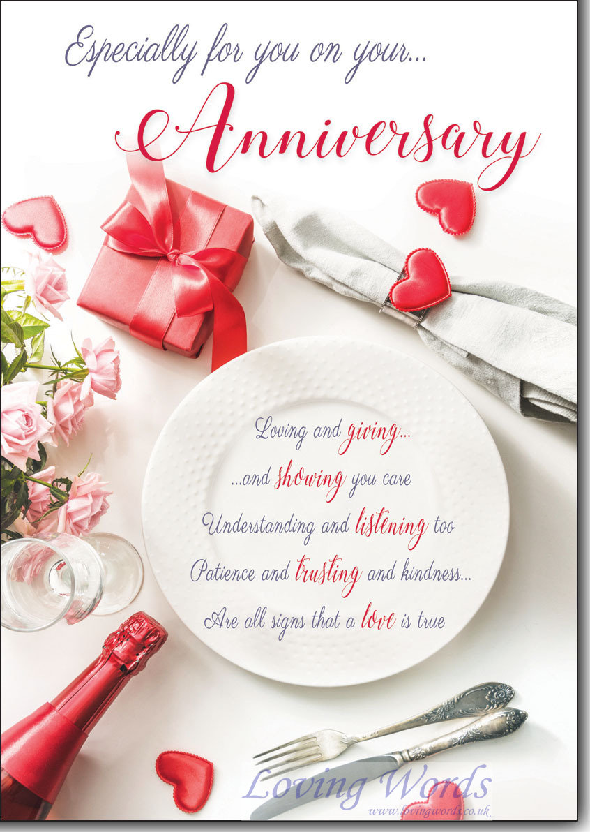On Your Anniversary Greeting Cards By Loving Words