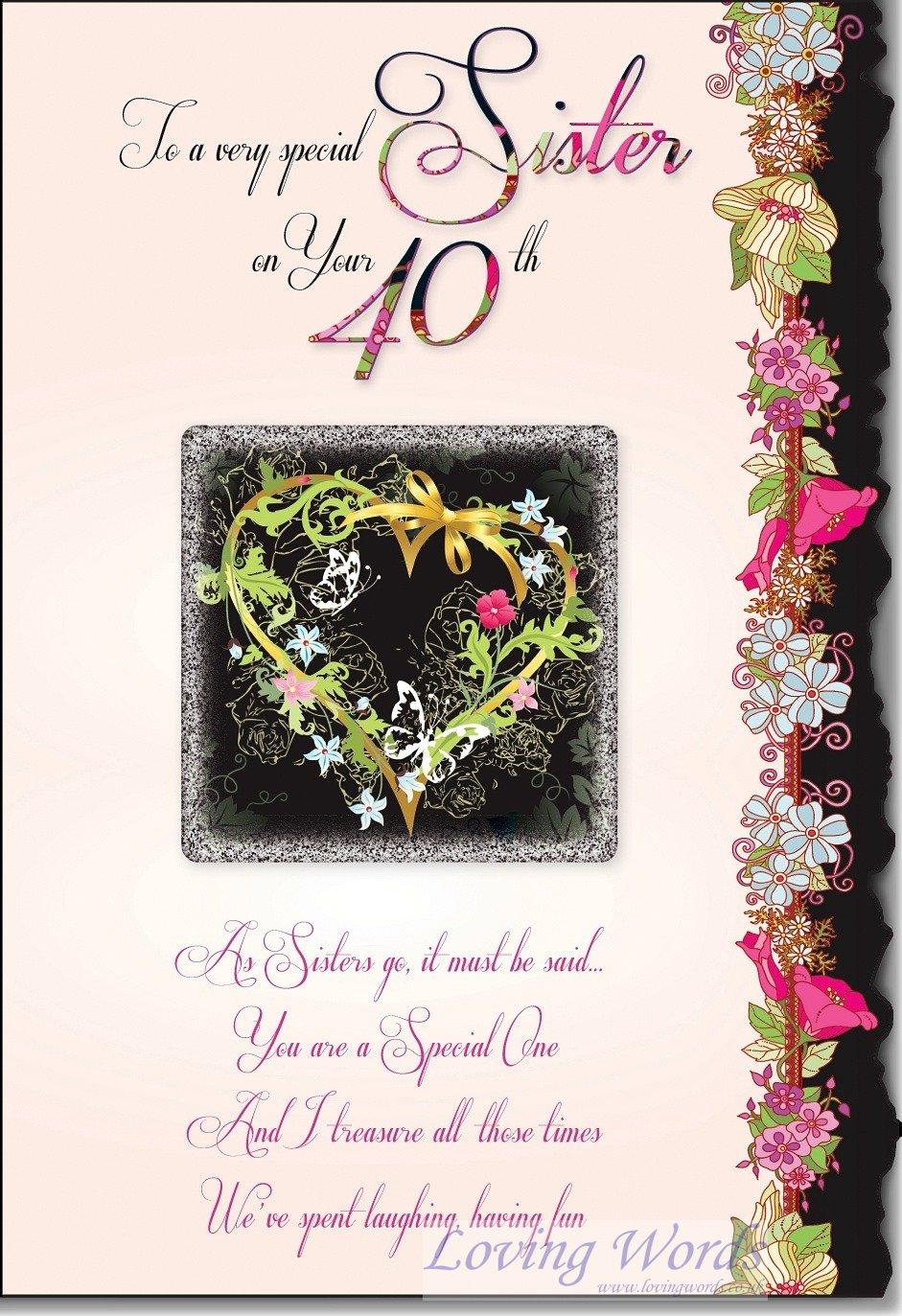 Sister 40th Birthday