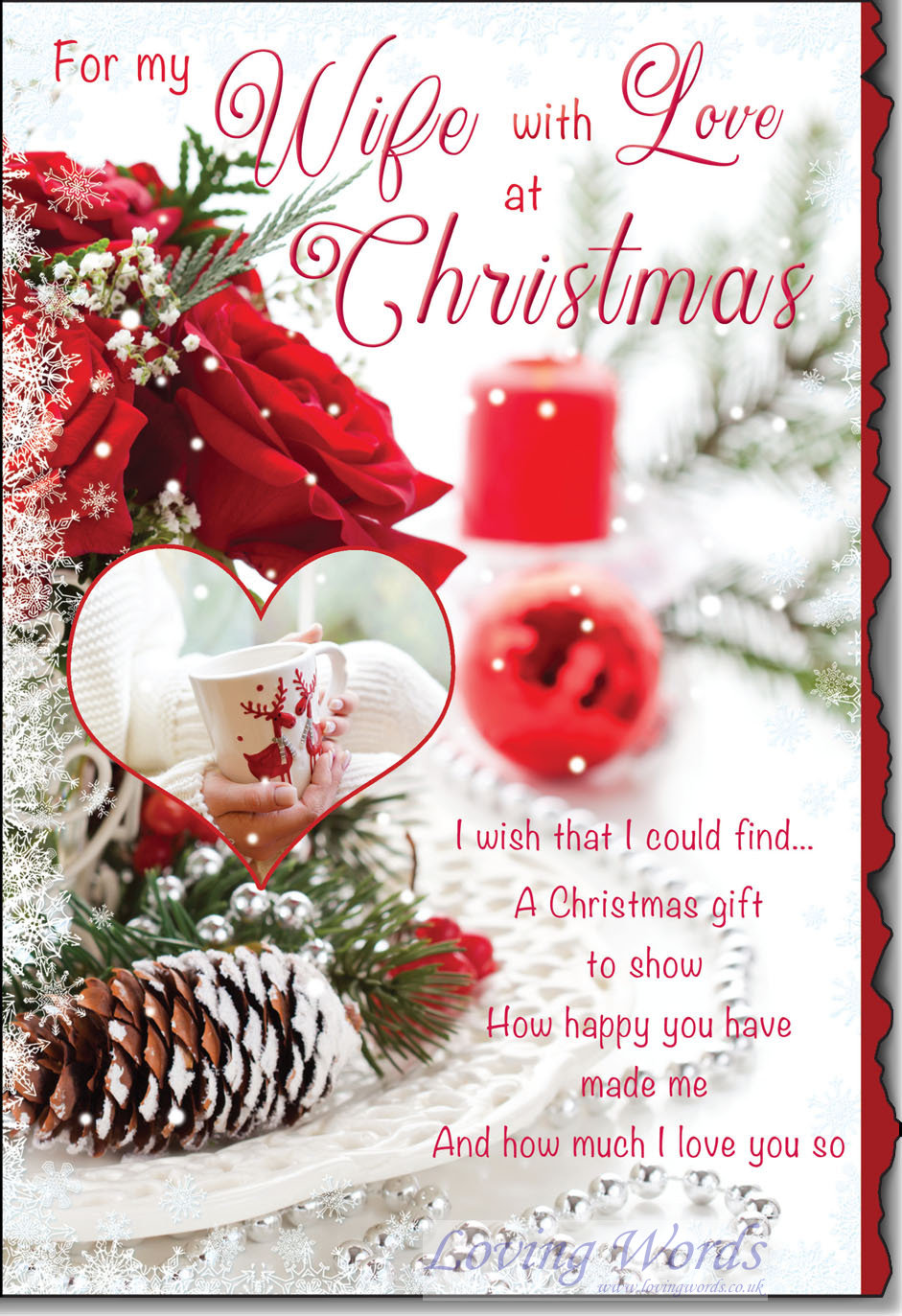For My Wife With Love At Christmas Greeting Cards By Loving Words