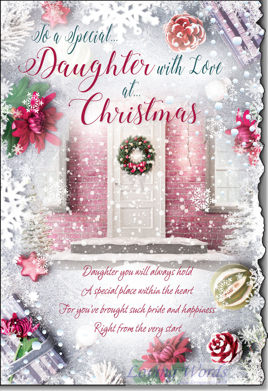 special daughter with love at christmas  greeting cards