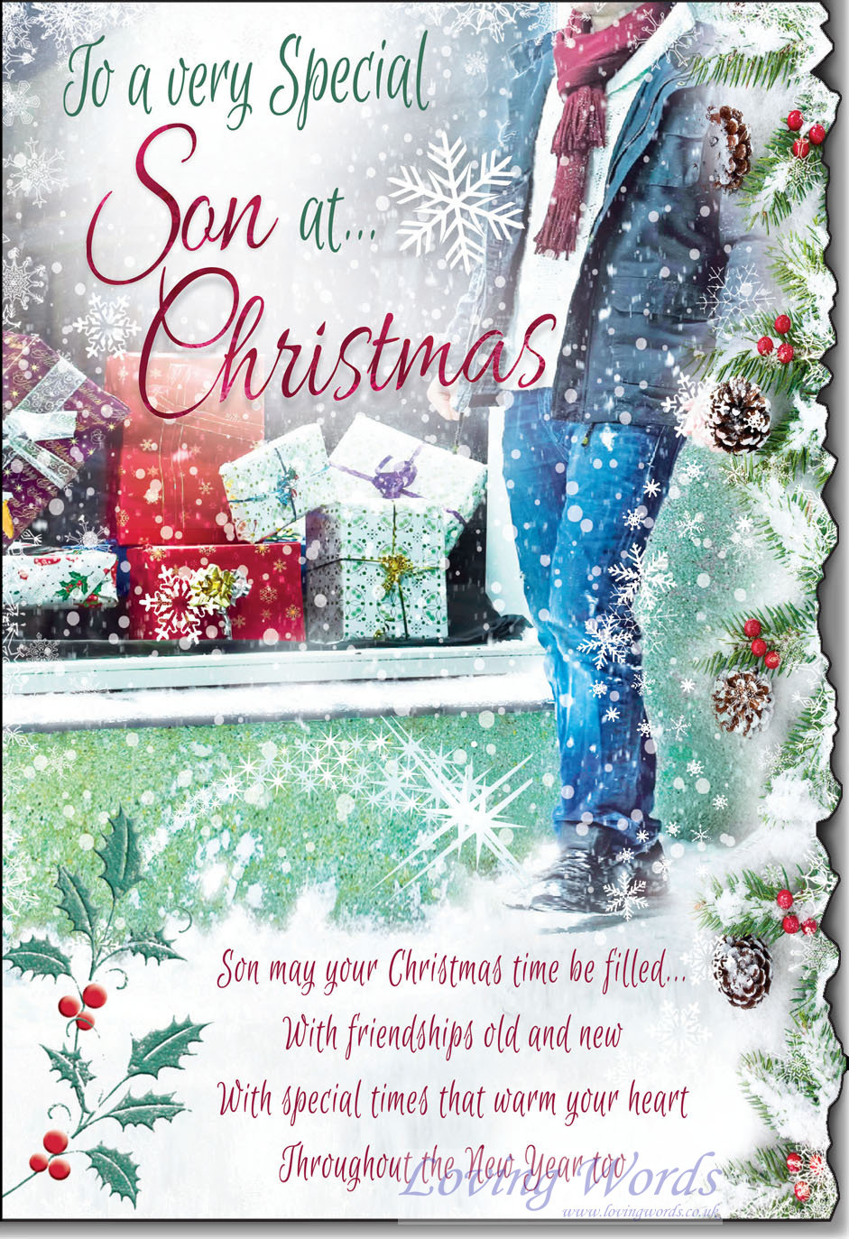 To a very Special Son at Christmas | Greeting Cards by Loving Words