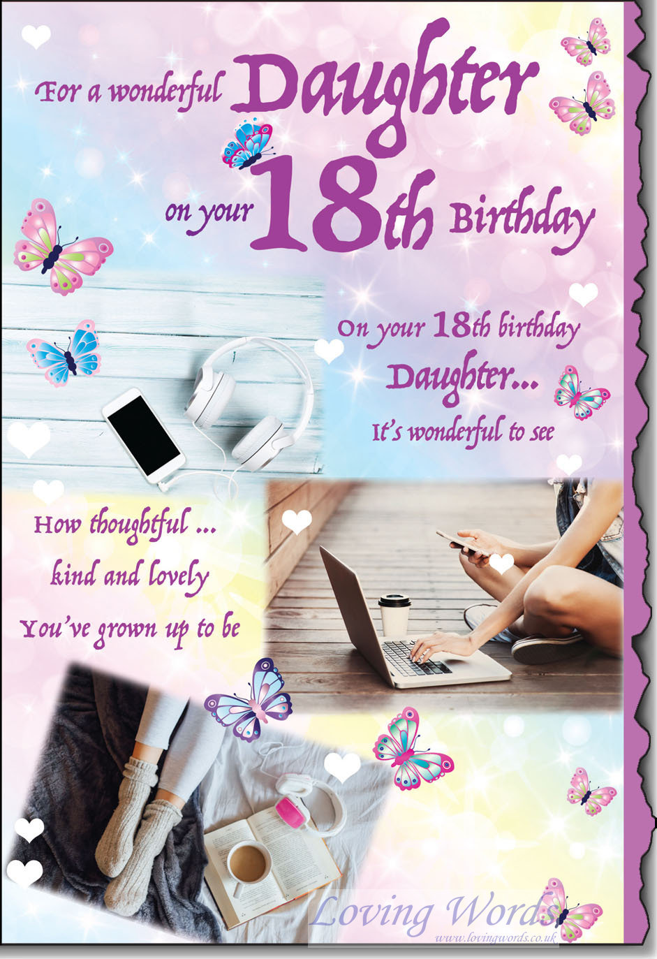 Greeting for 18th birthday gallery greeting card examples wonderful daughter 18th birthday greeting cards by loving words personalised greeting cards kristyandbryce gallery kristyandbryce Images