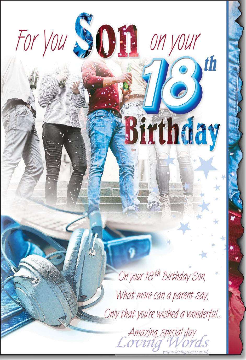 Astonishing Sons 18Th Birthday Greeting Cards By Loving Words Funny Birthday Cards Online Elaedamsfinfo