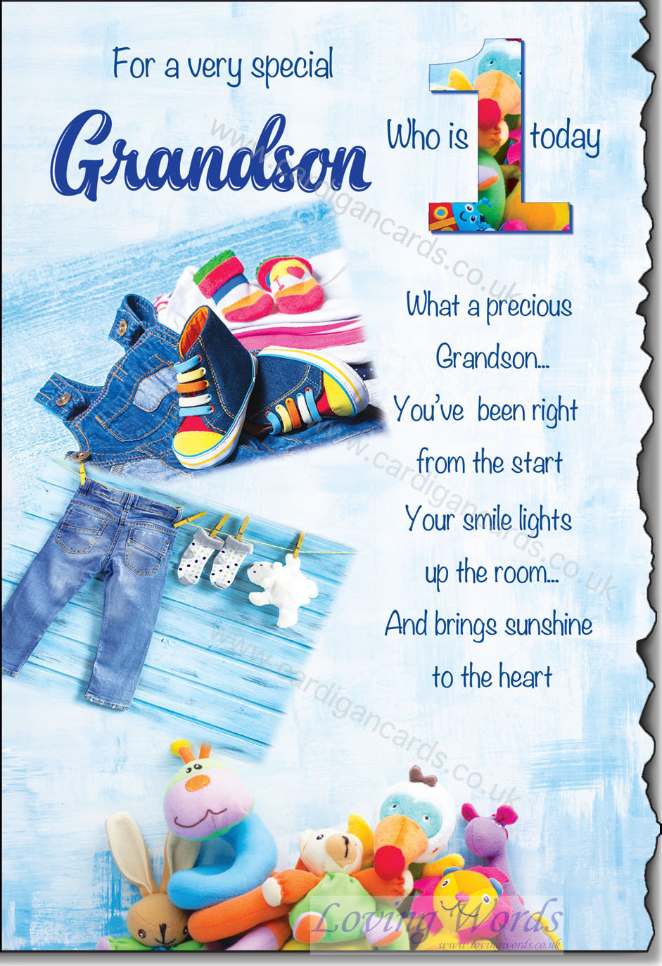 Grandson 1st birthday greeting cards by loving words personalised greeting cards bookmarktalkfo Image collections