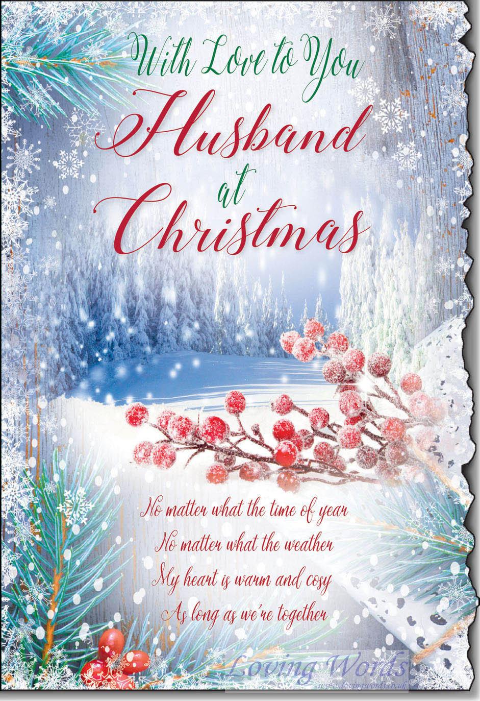 Husband Christmas Cards Uk.Husband At Christmas Greeting Cards By Loving Words