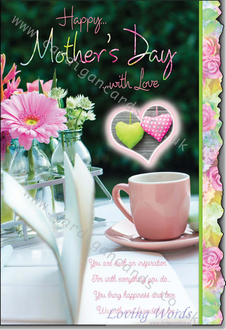 Happy Mothers Day With Love Greeting Cards By Loving Words