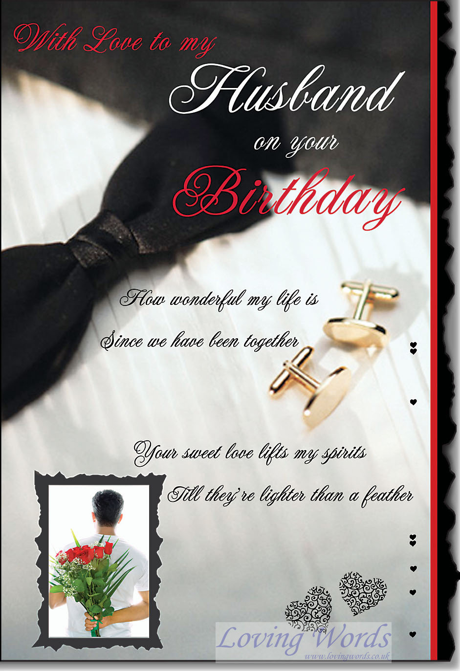 Husband Birthday Male Couple Greeting Cards By Loving Words