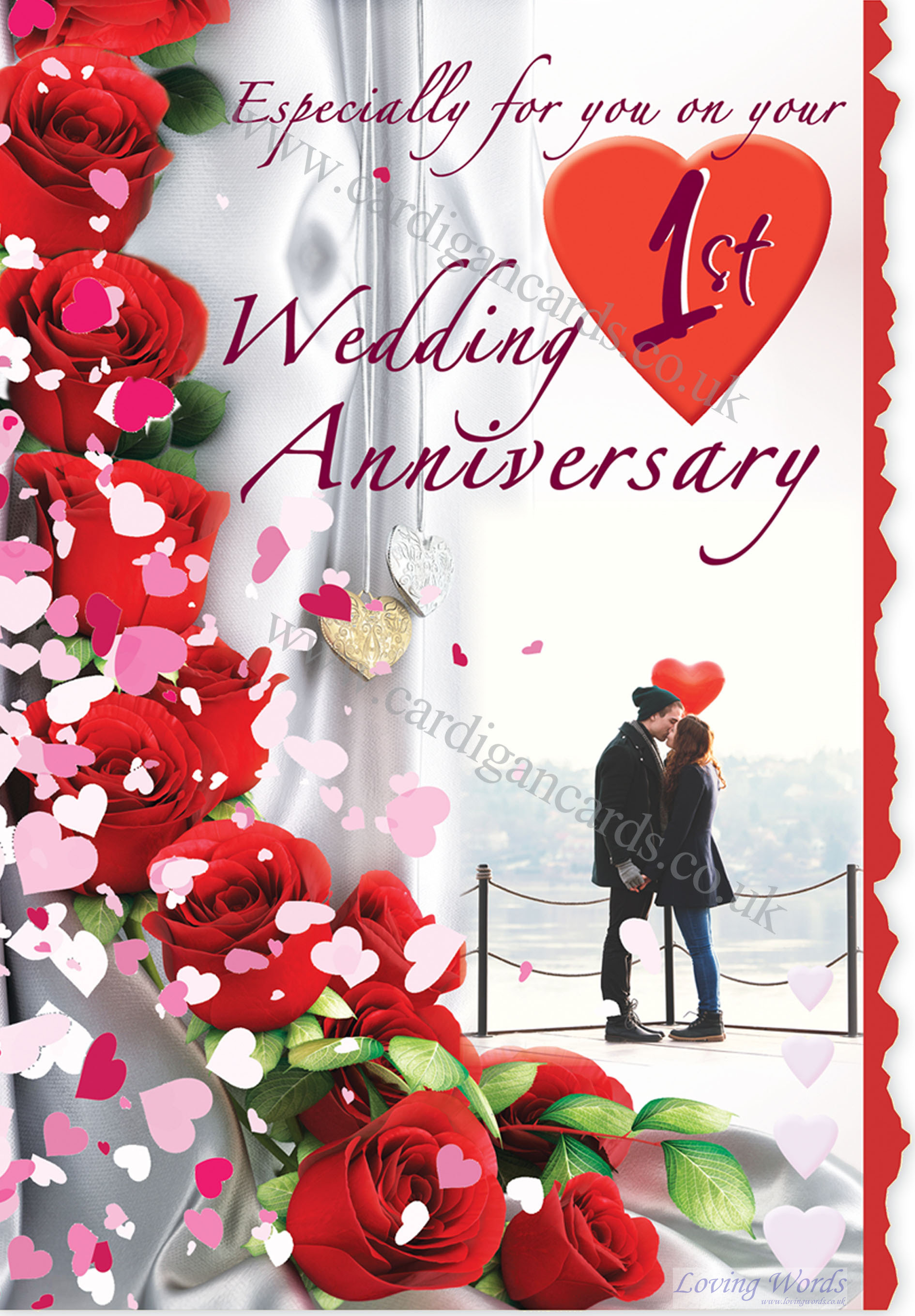 On 1st wedding anniversary greeting cards by loving words personalised greeting cards m4hsunfo