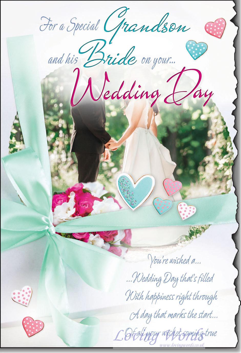 wedding day grandson  u0026 bride